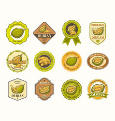 set black and white badges stickers vector image