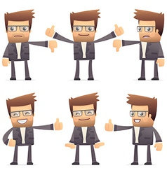 Set director character in different poses vector