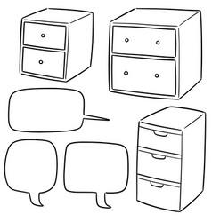 set of drawer vector image
