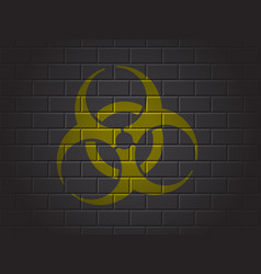 sign biohazard vector image
