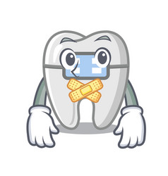 Silent toys braces in mascot box vector