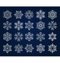 Snowflake Icons Set vector