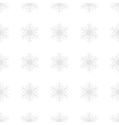 Snowflakes background in light gray colors vector image