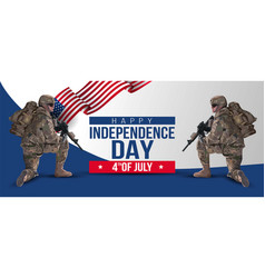 Soldiar fourth july background for happy vector