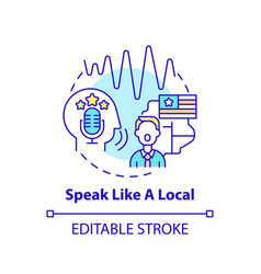 speaking like local concept icon vector image