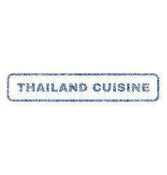 Thailand cuisine textile stamp vector