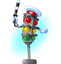 traffic light traffic controller vector image