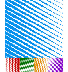 white billowy parallel stripes lines background vector image