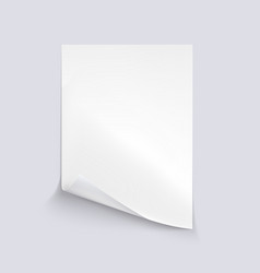 white sheet of paper on white background vector image