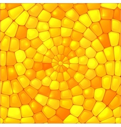 Yellow abstract stained glass mosaic background vector