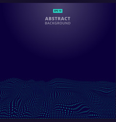 abstract digital blue dots wave with flowing vector image vector image