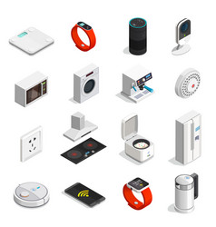internet of things isometric icons vector image vector image
