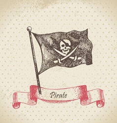 Pirate banner vector