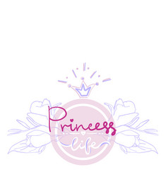 princess birthday party card color girl projekt vector image vector image