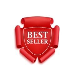Red best seller sticker vector