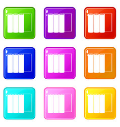 rolls of paper icons 9 set vector image