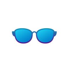 sunglasses blue icon on white background vector image