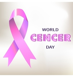 World cancer day banner card vector image vector image