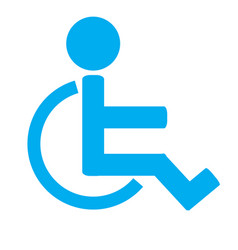 Disabled sign iconinvalid iconhuman on vector