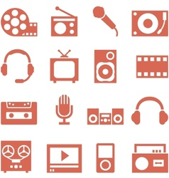 Icon set of gadgets and devices in a retro style vector image vector image