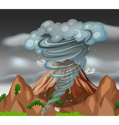 Tornado over the mountains vector image vector image