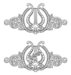 ancient lyre vector image vector image