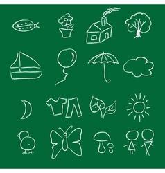 Crayon Doodle vector image vector image