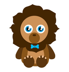 cute stuffed lion toy vector image
