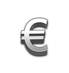 euro 3d sign isolated vector image