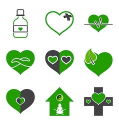 health care and ecology symbols vector image vector image