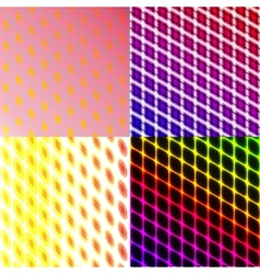 Set of Stylized abstract background glowing lines vector image