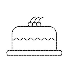 cake delicious berry bakery pastry tasty delicious vector image