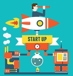 concept of business start up and optimization vector image