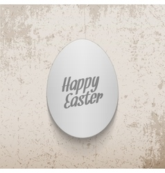 Easter realistic paper Egg greeting Banner vector image