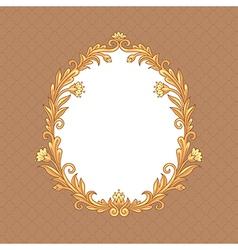 floral baroque vector image