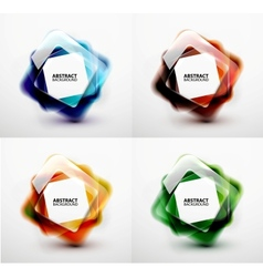 Glossy and blurred square banners templates vector image vector image