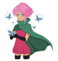 mangagirl vector image vector image