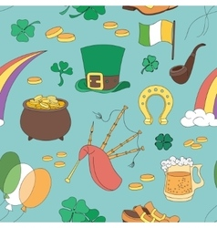 Saint Patricks Day pattern vector image vector image