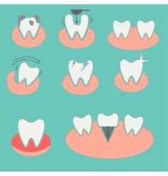 Set of dental conceptual icons vector image vector image