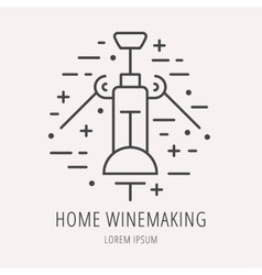 Simple Logo Template Wine Making vector image