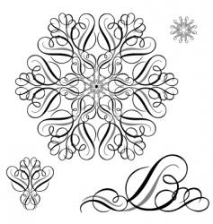swirl ornament set vector image