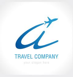 a travel company logo concept vector image