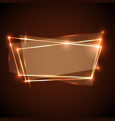 Abstract background with orange neon banner vector
