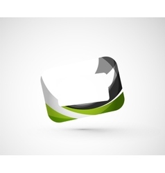 Abstract geometric company logo frame screen vector