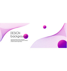 Abstract long banner with purple wavy lines vector