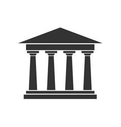 Academy building symbol logo design vector