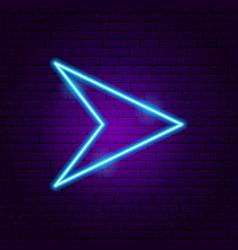 Arrow neon sign 6 vector