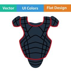 Baseball chest protector icon vector