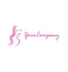 Beauty girl for logo design editable vector