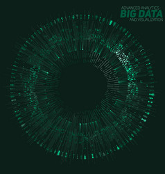 big data circular green vector image